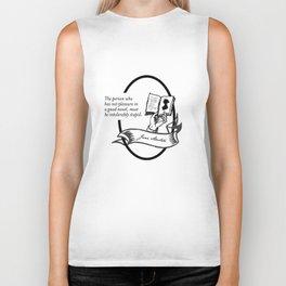 Jane Austen - Book Lover Quote Biker Tank