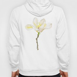 White Magnolia Watercolor Hoody
