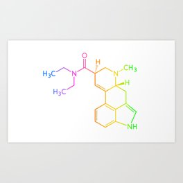 Chemical Formula Art Print