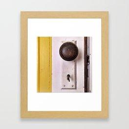knock, knock...come in. Framed Art Print
