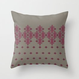 Scrollwork on Gray Throw Pillow