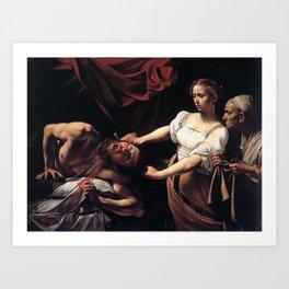 JUDITH BEHEADING HOLOFERNES - CARAVAGGIO  Art Print