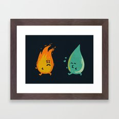 Impossible Love (fire and water kiss) Framed Art Print