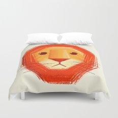 Sad lion Duvet Cover