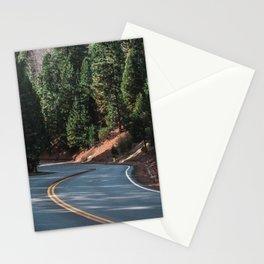 The road through the woods and mountains Stationery Cards