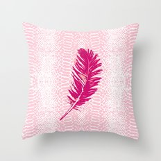 dancing feather Throw Pillow
