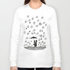 I'm only happy when it rains (skulls) Long Sleeve T-shirt