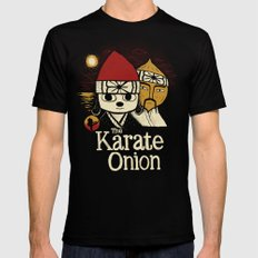 the karate onion LARGE Black Mens Fitted Tee