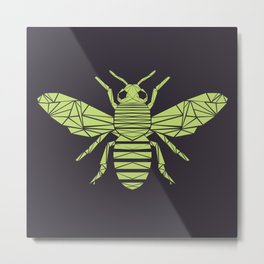The Bee is not envious - Geometric insect design Metal Print
