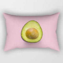 Avocado Art Print On Pink Background Home Decor And Accessories Rectangular Pillow