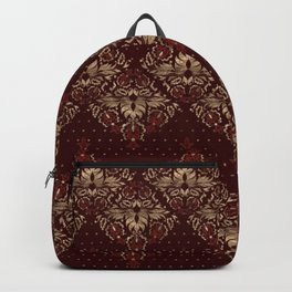 Persian Oriental pattern deep red and gold Backpack