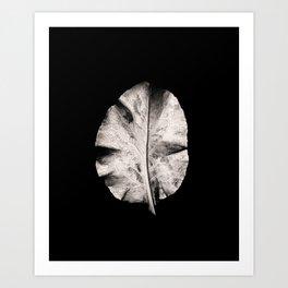 Carbon Leaf Art Print