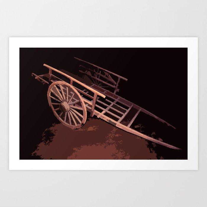 """East Cart"" Art Print"
