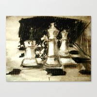 chess Canvas Prints featuring Chess by James Peart