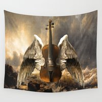 celestial Wall Tapestries featuring Celestial Music by Diogo Verissimo