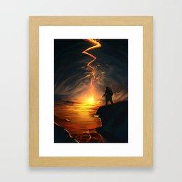 Lava Pit Framed Art Print