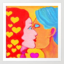 Forms of Love FemaleMale Art Print