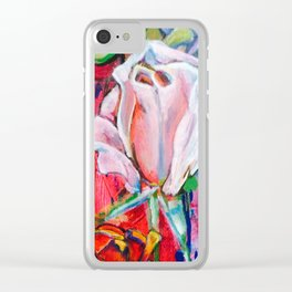 Pink Rose by Toni Wright Clear iPhone Case