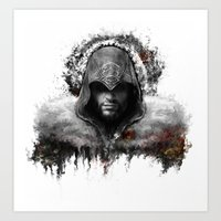 assassins creed Art Prints featuring assassins creed ezio auditore by ururuty