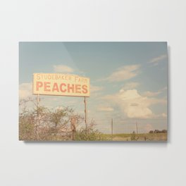 Texas Hill Country Peaches x Rustic Kitchen Art Metal Print
