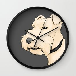 Terrier portrait Wall Clock