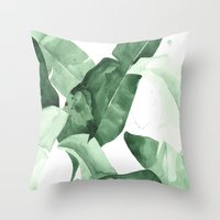 watercolour Throw Pillows featuring Beverly II by THE AESTATE