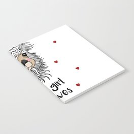 alpaca girl Llama Love Present Gift Notebook