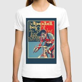 Retro Cycling Print Poster Hard as Nails  T-shirt