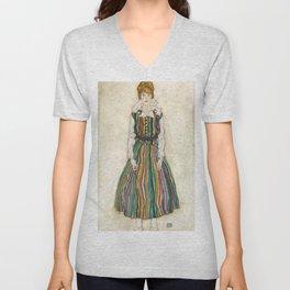 "Egon Schiele ""Portrait of Edith Schiele, the artist's wife"" (1915) Unisex V-Neck"