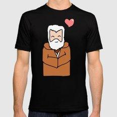 Obi-Wan Valentine MEDIUM Mens Fitted Tee Black