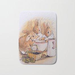 Peter Rabbit with his parents Bath Mat