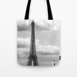 Eiffel Tower from rooftop of Galeries Lafayette Tote Bag
