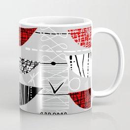 Nero Rosso Mod Coffee Mug