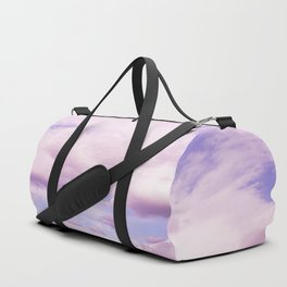 Pink Clouds In The Blue Sky #decor #society6 #buyart Duffle Bag