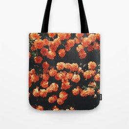 Orange flower fleurs Tote Bag