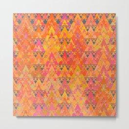 Recursive Triangles Warm Metal Print