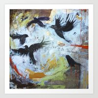 Listen to the Crows #1 Art Print