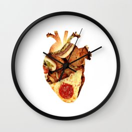 I heart junk food Wall Clock