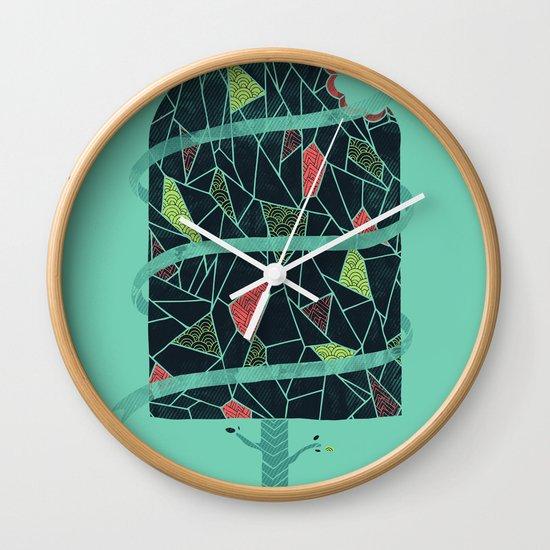 The Winter Tree Wall Clock