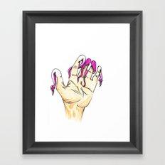 Tentacle Fingers Framed Art Print