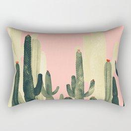 pink growing cactus Rectangular Pillow