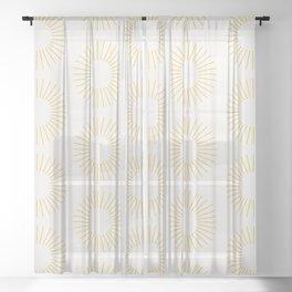 Minimalist Sunray Pattern XXI Sheer Curtain