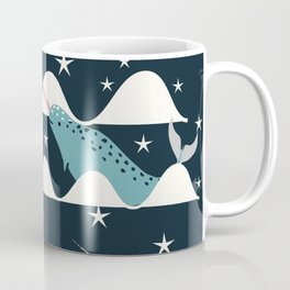 narwhal in ocean blue Coffee Mug