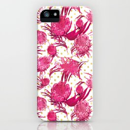 Pink and Gold Australian Native Floral Pattern - Protea, Grevillea and Eucalyptus iPhone Case