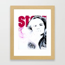 Stain Framed Art Print