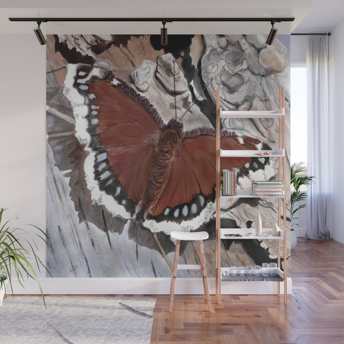 Cloak of Mourning Butterfly Wall Mural