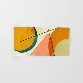 mid century geometric shapes painted abstract III Hand & Bath Towel