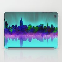 new york skyline iPad Cases featuring New York skyline by Bekim ART