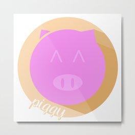 Piggy Metal Print