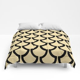 MODERN SCALES GEOMETRIC | beige black Comforters